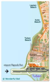 Bali Airport Map