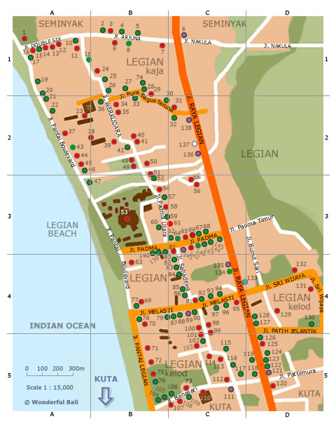 Legian map Wonderful Bali
