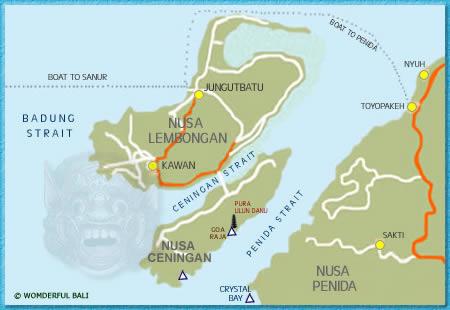 Map Nusa Lembongan