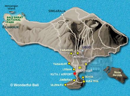 South Bali Introduction Plus Places Of Interest